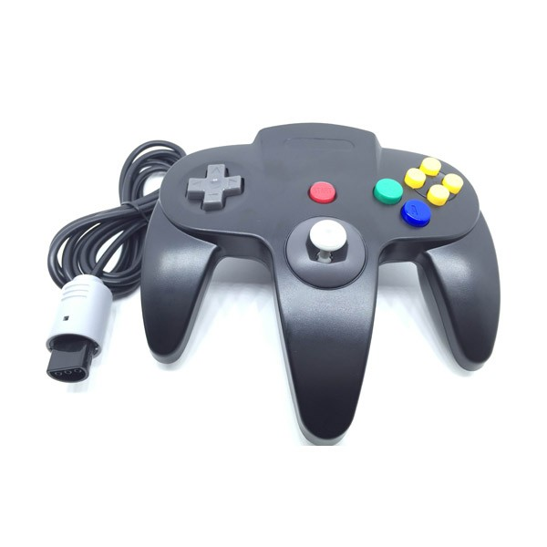 Classic Wired Controller Joystick for Nintendo 64 N64 Game System - Black