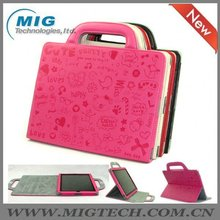 High end Leather smart bag for Ipad 2 3, for ipad bag