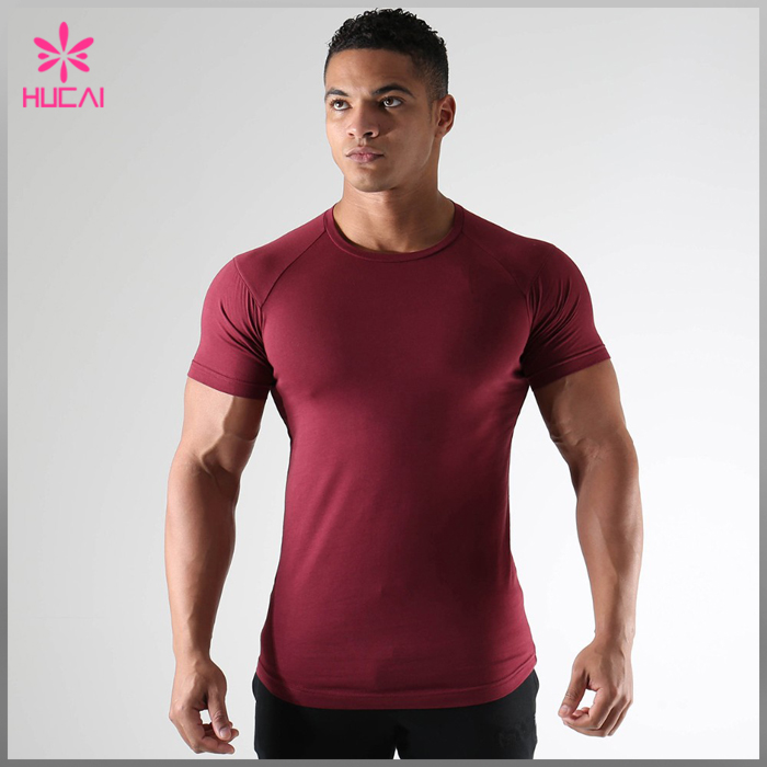 High Quality Custom 90% polyester EXTENDED SCOOP sports mens gym wear for mens