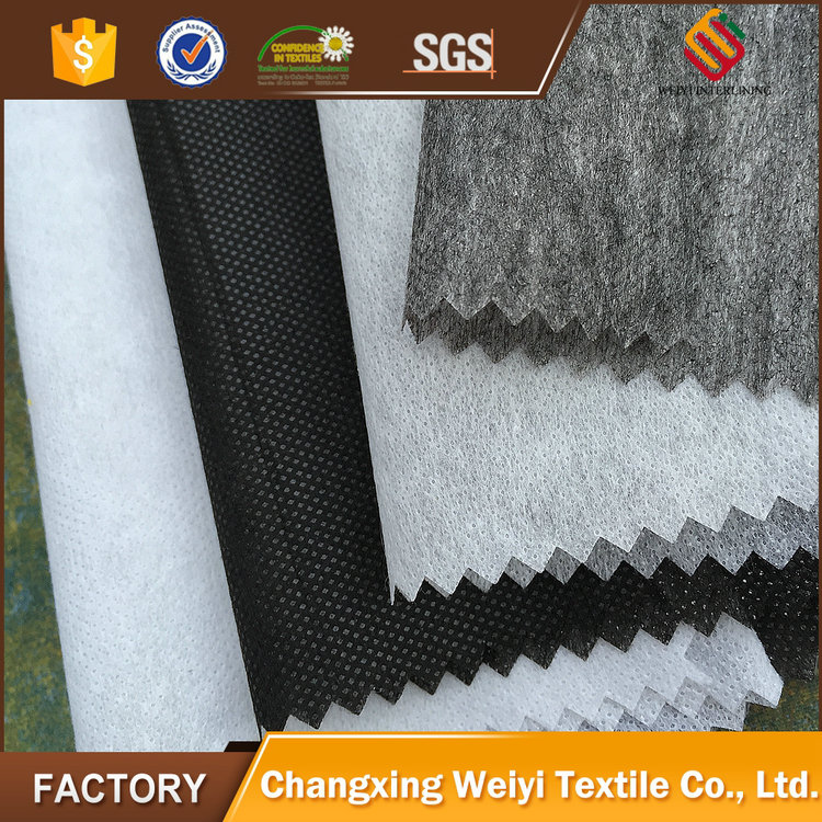 High quality fusible non woven double dot fusing interlining