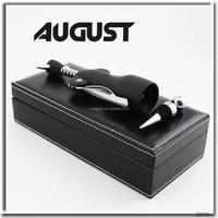 AUGUST Barware 2 piece wine accessory gift set