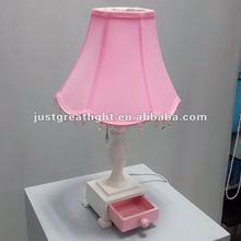 Fabric wooden table lamp for hotel