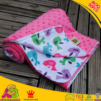MOQ 50PCS China proudct top quality Oeko-tex 100 and SGS printed microfiber minky knee blanket
