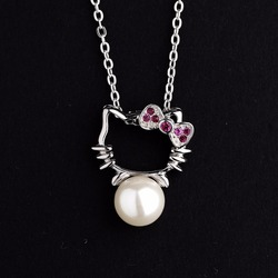 valentine's day gifts wholesale pearl silver jewelry necklaces