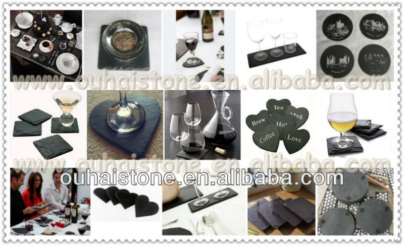 OEM Offered Manufacturer Hotelware Slate Tray Slate Cheese Board Set