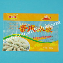 Keeping freshness printed plastic bag frozen dough/meat/bread transport packaging