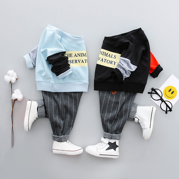 high quality hot sale 2018 handsome suits good material cheap baby boy clothes set