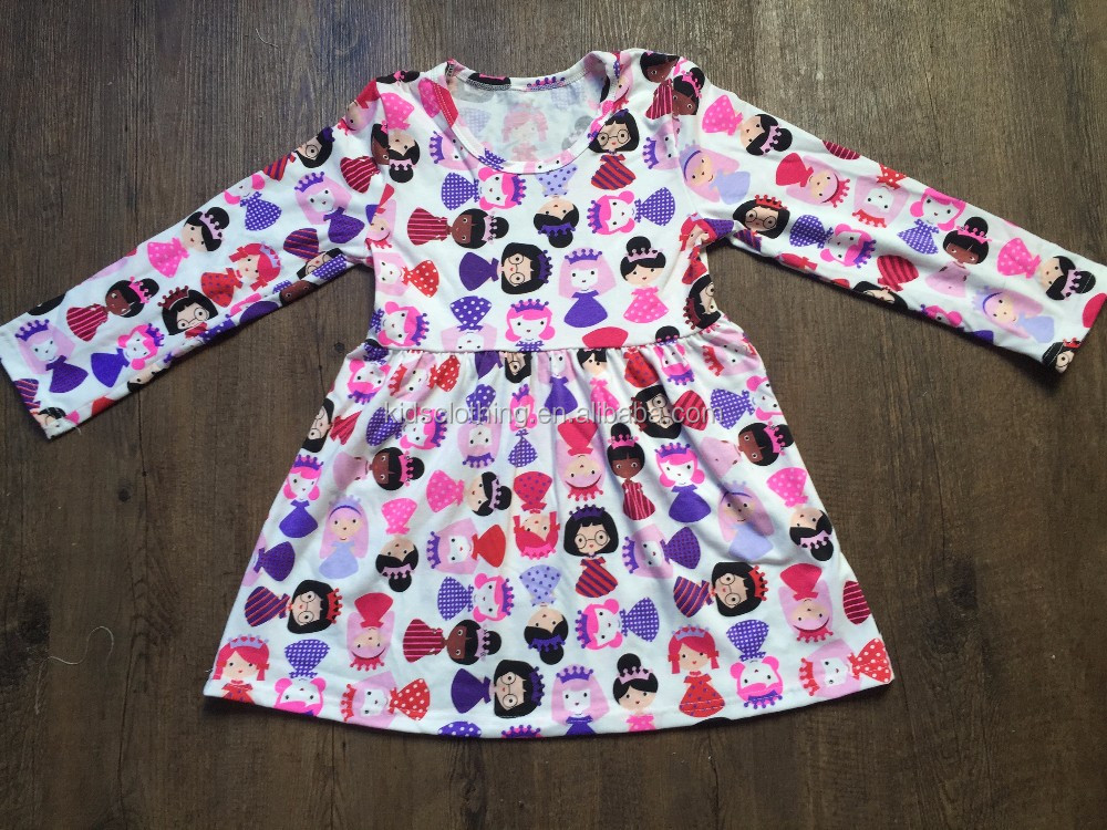 Wholesale flower tunic dress designer cotton dresses for girls toddler girls smocked dress