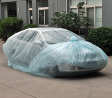 plastic car cover to protect flood, flood car bag