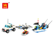 new 2018 kids police play set plastic building blocks with low moq
