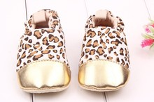 Estampado de leopardo al por mayor baby girl shoes