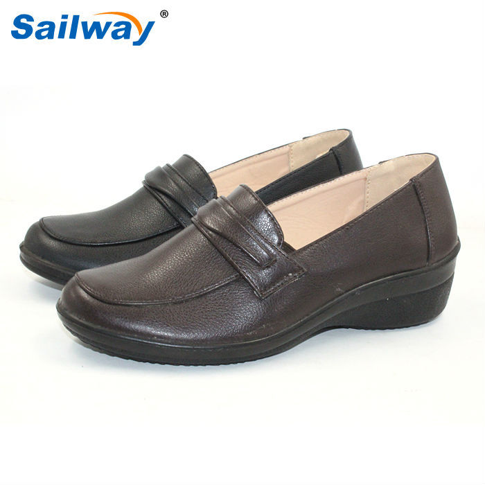 Mom's shoes 2015 dark brown Casual Shoes comfortable for office lady