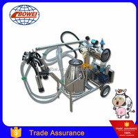 Electric Vacuum Pump Mobile Trolly Cow Milking Machine