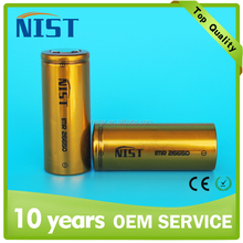 Discount high capacity 26650 battery NIST 26650 4500mah 80A battery rechargeable for e-cig cells