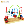 Baby activity bead montessori material educational wooden toy for kids