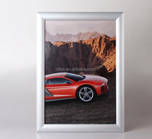 25mm profile aluminum snap display frame,poster clip frame,wall mounted snap fame A1