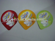 PP lacquered aluminum foil lids for seal PP/PS cups