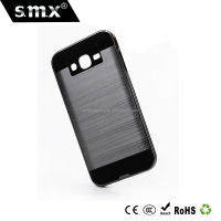 Shock Absorbing Dual Layer Slim Fit Metallic brush satin phone case for Galaxy J7