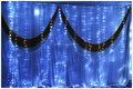 decorations home led curtain light/led twinkling stars led curtain lights/plastic christmas decorations led light