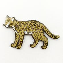 Kunshan Hard Brass Enamel Animal Lapel Pin with Silk Screen Printing