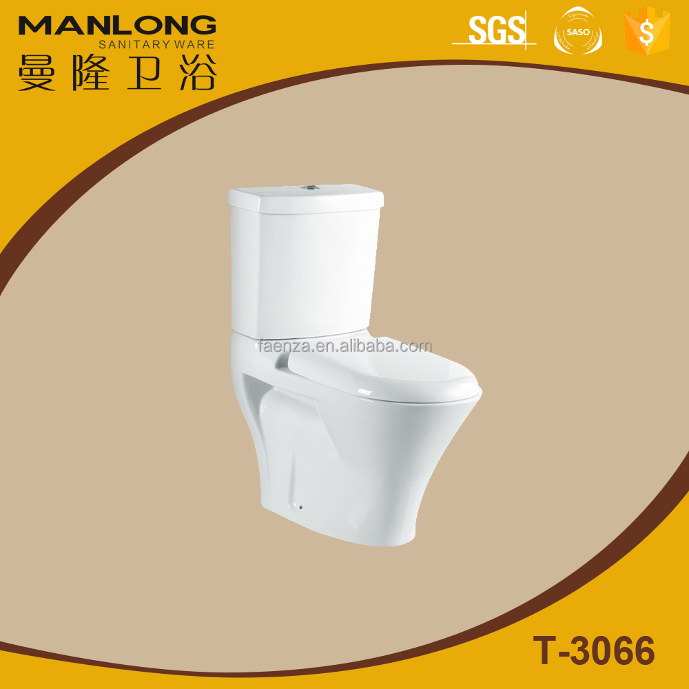 WC S-trap Toilet, Bathroom Ceramic Sanitary Ware