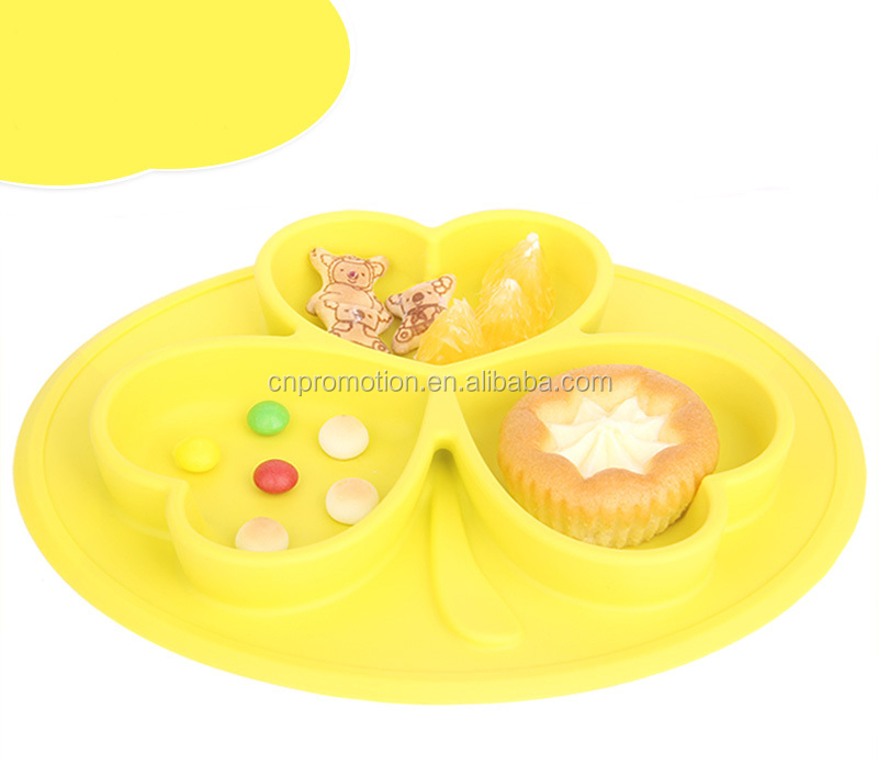 Unbreakable Perfect Food Plate Baby Silicone Divided Plate