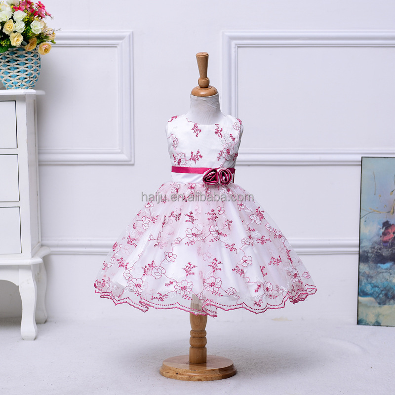 Latest flower girl dress children frock design for 2 to 6 years old girls