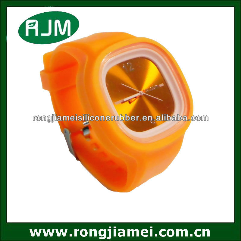 Dazzling geneva watch gel candy jelly watch silicone sport wrist watch for promotion