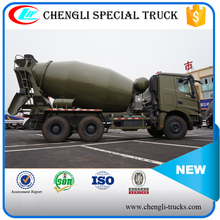 8m3 BEIBEN 6*6 336hp Military Use Cement Concrete Mixer Truck