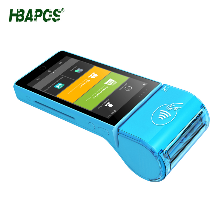 pos terminal with nfc reader/Android all in one mobile pos machine/handheld terminal with printer HBA-P3