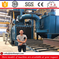 china factory supplier hot sale roller conveyor shot blasting machine for aluminum profiles