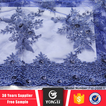 Alibaba supplier china factory price wholesale blue african lace fabrics