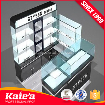 High End Cosmetics shop display stand and showcase for makeup kiosk