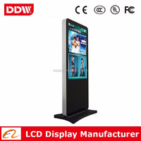 "Factory wholesale 65"" white color LCD digital media advertising with LG original new panel DDW-AD6501SN"