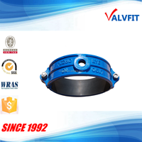Ductile iron DI/PVC pipe saddle clamp