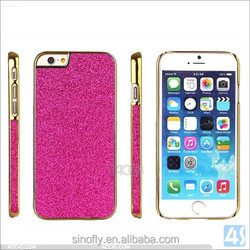 latest popular mobile phone case bling sticker protective cover for iphone 6 plus