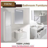 North America Style Modern Solid Wooden Vanity For Sale cheap one sink bathroom cabinet made in china