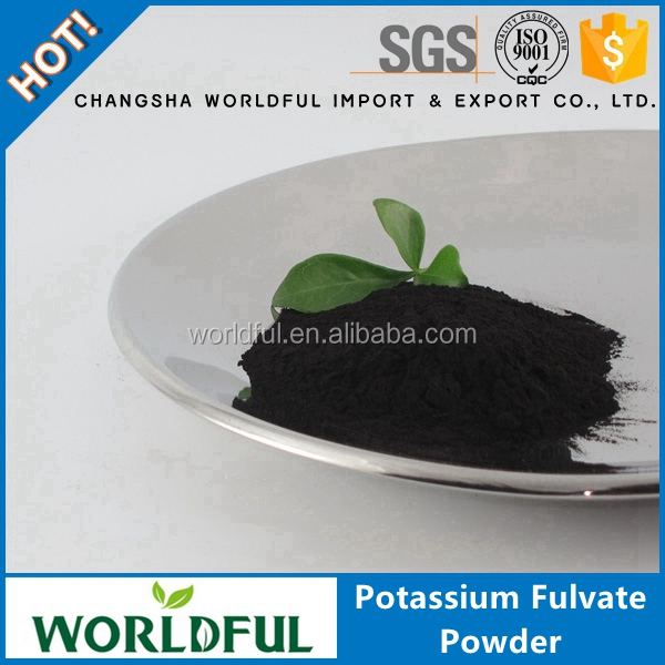 High Water Soluble Organic Fertilizer Humic Acid+fulvic Acid +K2O, Potassium Fulvate Powder