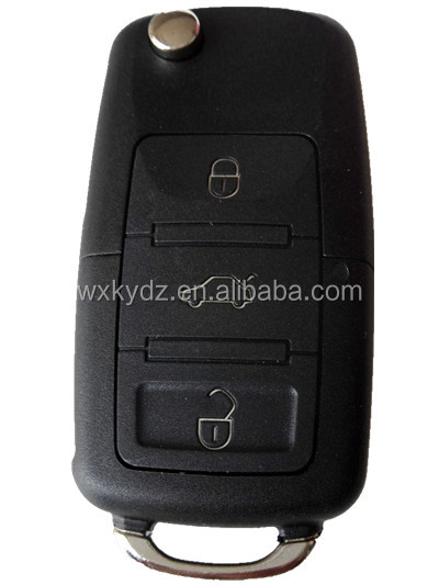 High quality keyless entry folding flip car remote control key for VW Golf