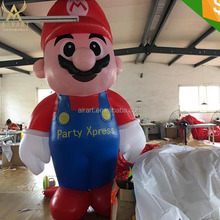hot selling Large Lovely Cartoon Advertising Inflatable Super Mario for christmas decoration