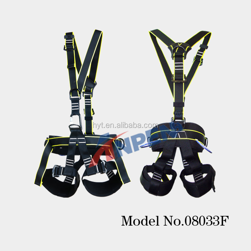 Top quality Safety harness/ safety belt/ nylon webbing safety harnee for Climbing, rescue, industrial