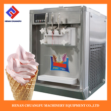 Commercial table top soft serving ice cream making machine freezer