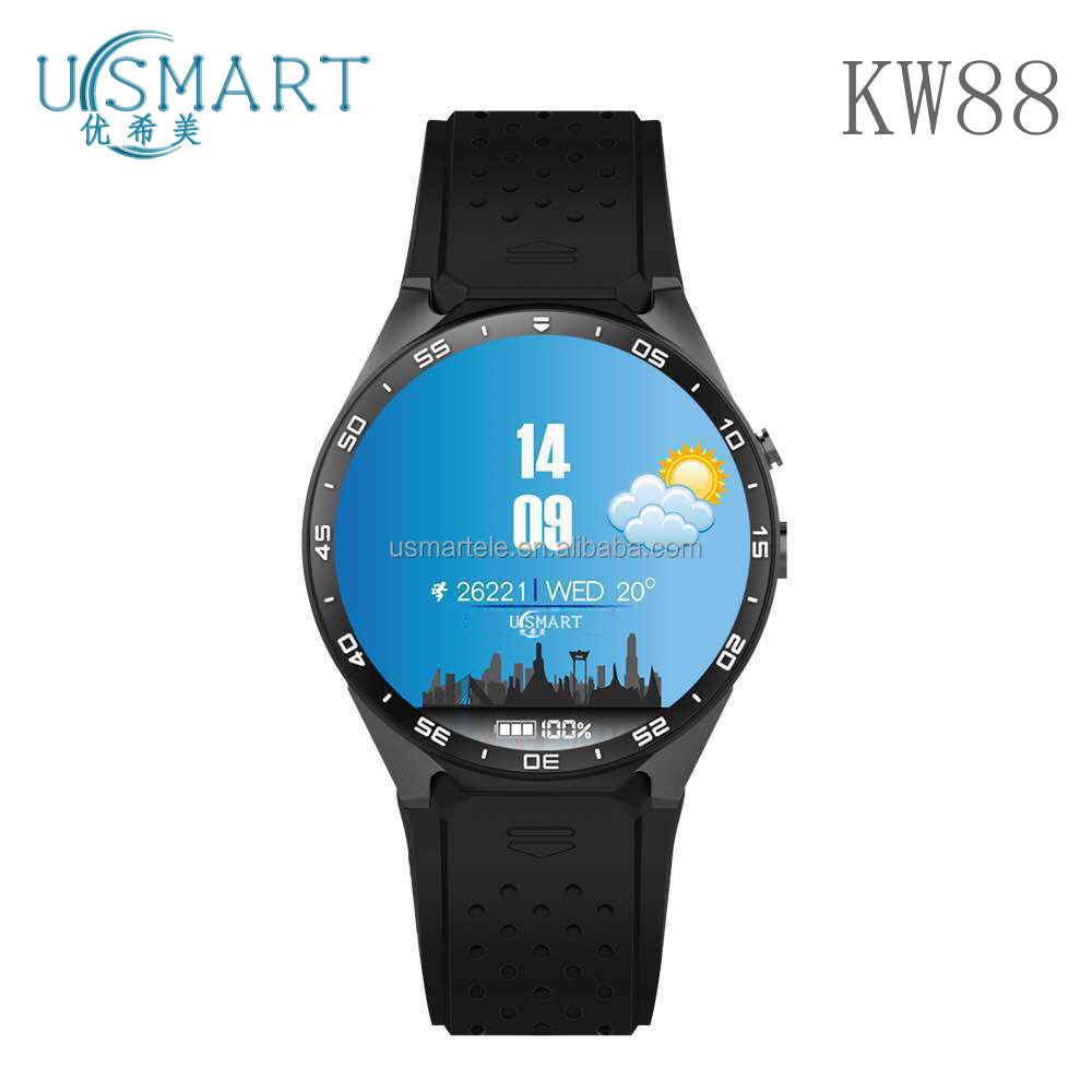 Factory Wholesale cheap 2017 dual sim QW09 watch phone A1 smartwatch kw88 with wifi bluetooth android online shopping