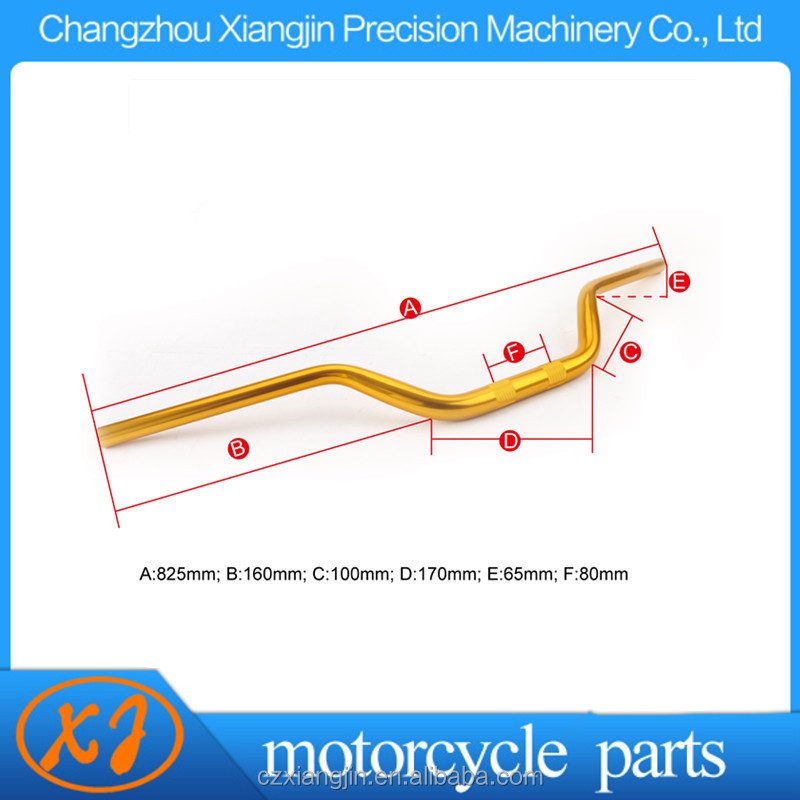Colorful anodized motorcycle handlebars with competitive price