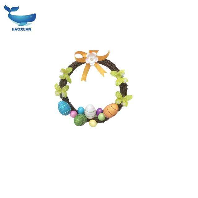 FHJ0028 HAOXUAN Good price Easter Egg Garland for Easter Decoration