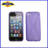 2013 New Mobile Case for Iphone5c X line TPU Gel Case Cover for Iphone, Laudtec
