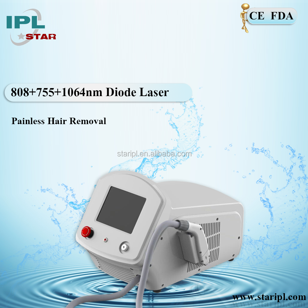 New Technology 755nm 808 nm 1064nm 3in 1 laser diode portable Permanent Hair Removal Machine