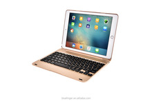 ABS material clamshell Bluetooth keyboard case for 9.7 iPad Pro&iPad Air2