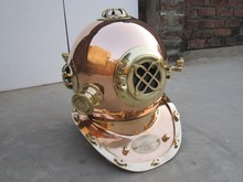 FULL SIZE DIVERS HELMET MADE OF BRASS & COPPER