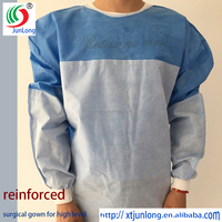 SMS surgical gown reinforced and sterile